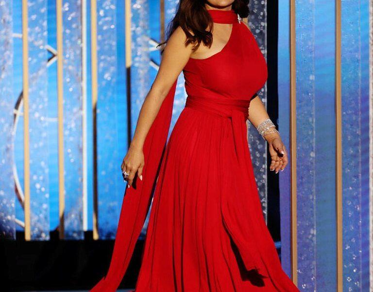 Salma Hayek Vestido Rojo
