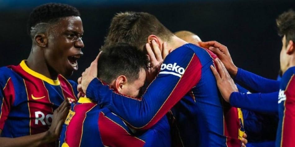 Messi Pique Sevilla Barcelona