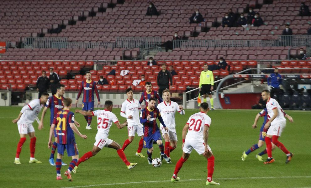 Barcelona remontó Messi Sevilla