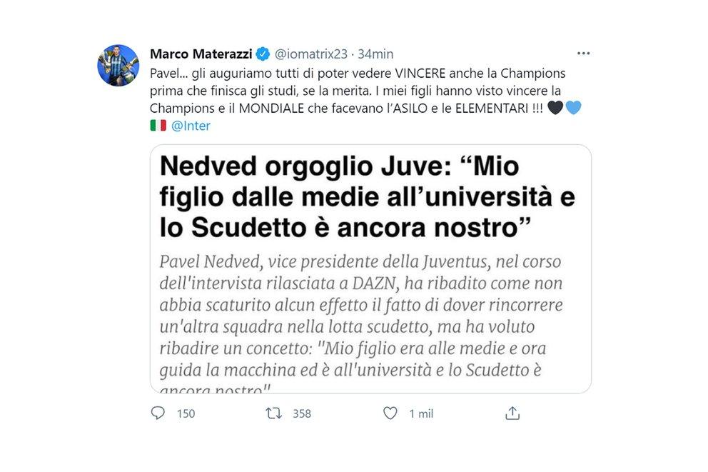 materazzi tweet