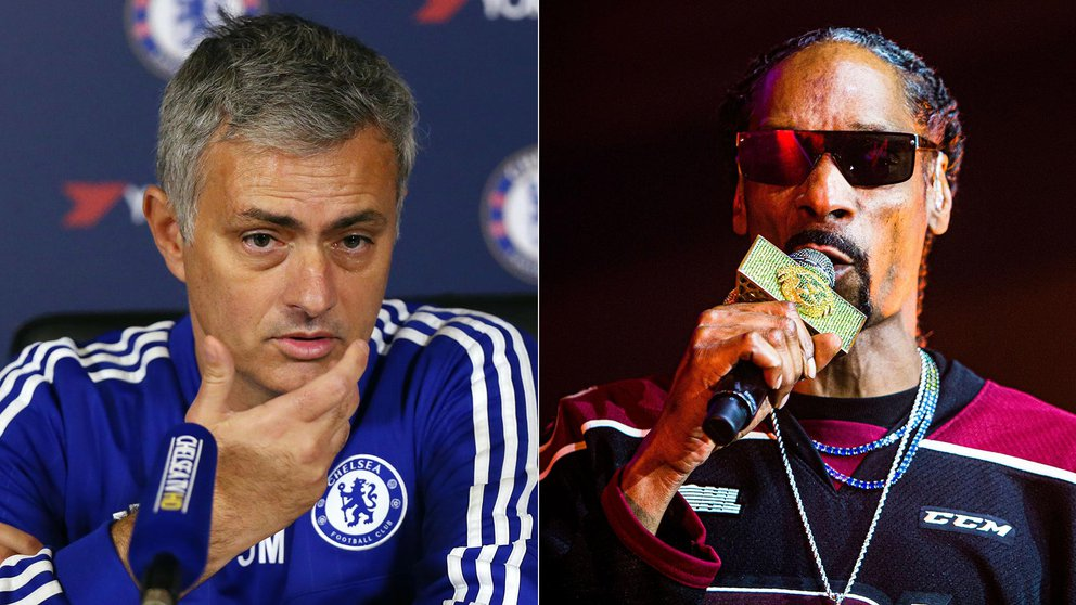 Jose Mourinho fiesta Snoop Dogg