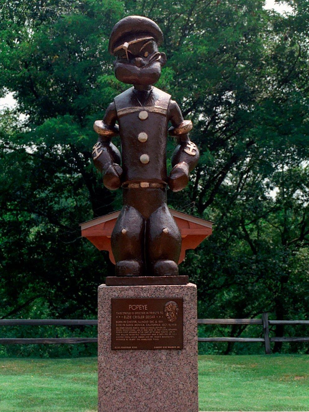 popeye estatua