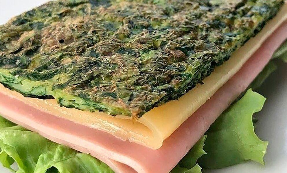Sandwich de espinaca