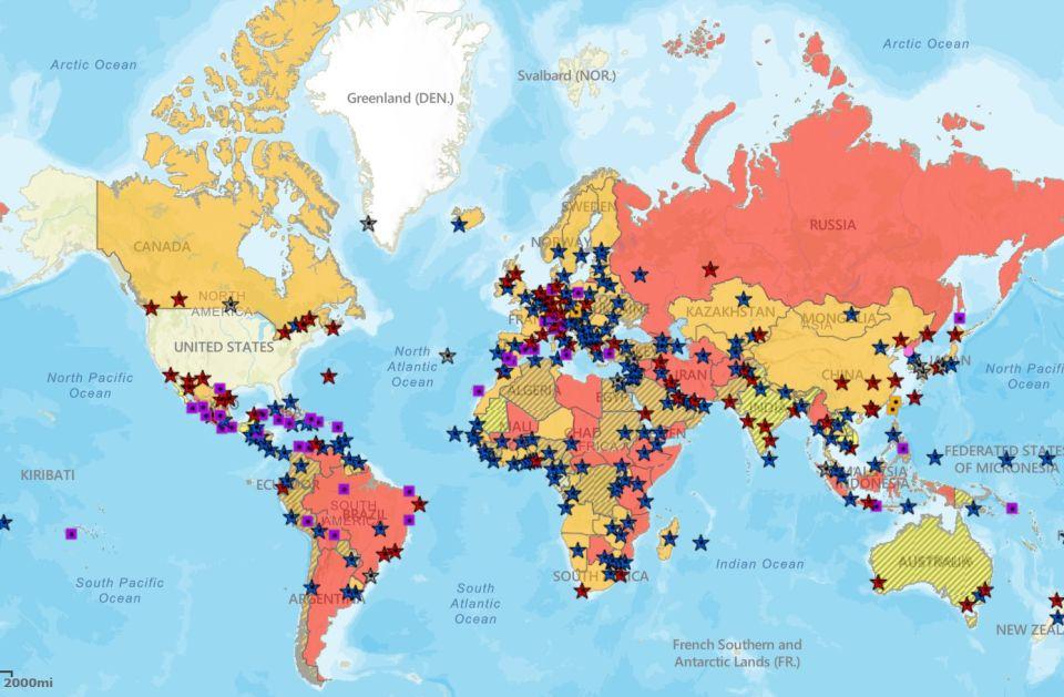 mapa no viaja usa