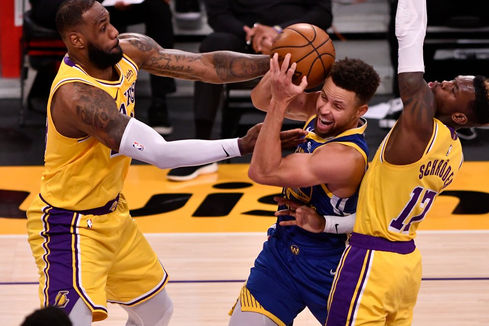 lebron curry lakers