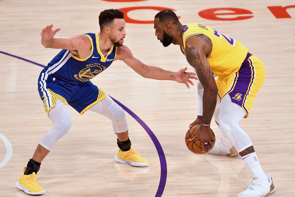 lebron y curry lakers