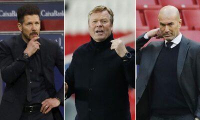 Cholo Simeone, Koeman, Zidane